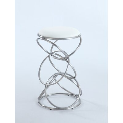 Strouth 29.53 inch Bar Stool Upholstery: White