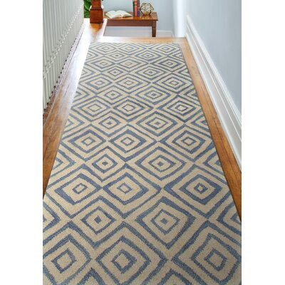 Trautman Ivory/Blue Area Rug