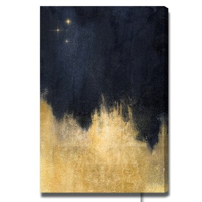 'Stars in the Night' Painting Print on Canvas Size: 15