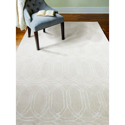 Fort Washington Hand-Tufted Snow Area Rug Rug Size: 36 x 56