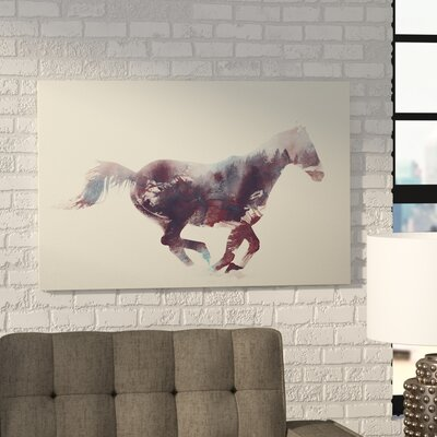 'Horse I' by Andreas Lie Graphic Art on Wrapped Canvas Size: 12