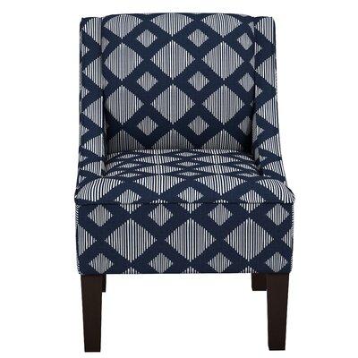 Stutes Lattice Swoop Linen Slipper Chair