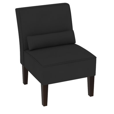 Summers Velvet Slipper Chair Upholstery: Black