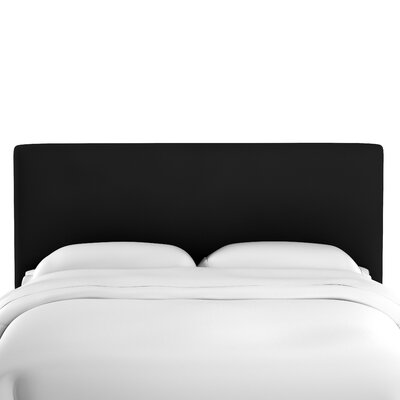 Caroga Upholstered Panel Headboard Size: King, Upholstery: Black