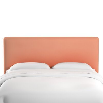 Caroga Upholstered Panel Headboard Size: Twin, Upholstery: Papaya