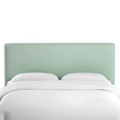 Caroga Upholstered Panel Headboard Size: Twin, Upholstery: Pool