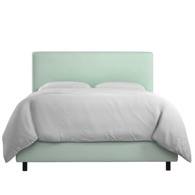 Sundquist Velvet Upholstered Panel Bed Size: King, Color: Pool