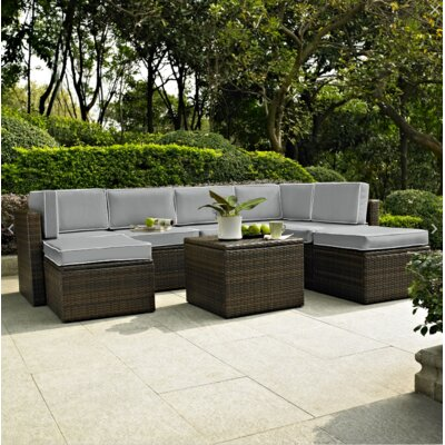 Belton 8 Piece Seating Group with Cushion Fabric: Grey