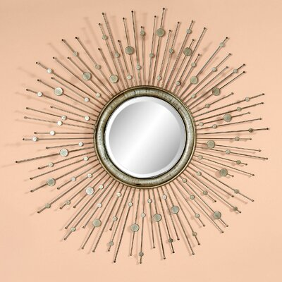 Sunburst Silver Leaf  Wall Mirror