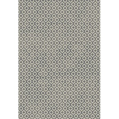 Verville Platinum Gray Area Rug Rug Size: 5 x 8