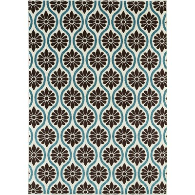 Vesely Ivory/Brown Area Rug Rug Size: 5 x 8