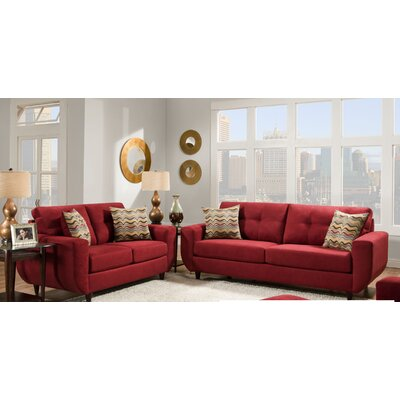 Simmons Upholstery Gudino Loveseat Upholstery: Cayenne