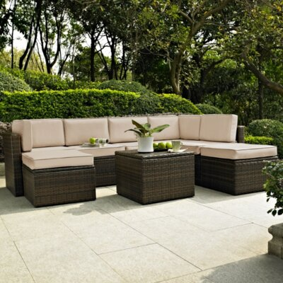 Belton 8 Piece Seating Group with Cushion Fabric: Sand