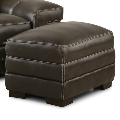 Grand Isle Ottoman Upholstery: Brown