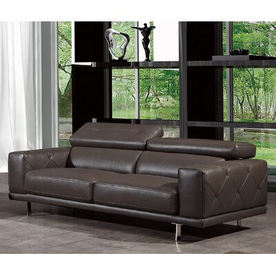 Belmar Leather Sofa Upholstery: Gray