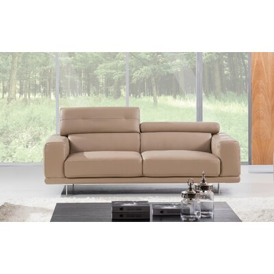 Belmar Leather Sofa Upholstery: Taupe