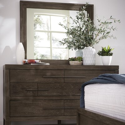 Vickrey 7 Drawer Dresser with Mirror