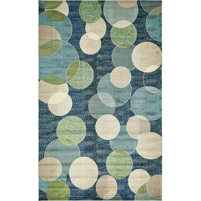Chenango Navy Blue Area Rug Rug Size: Rectangle 10 x 8