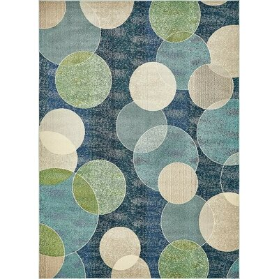 Chenango Navy Blue Area Rug Rug Size: Rectangle 9 x 12