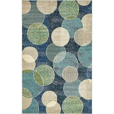Chenango Navy Blue Area Rug Rug Size: Rectangle 5 x 8