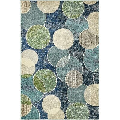 Chenango Navy Blue Area Rug Rug Size: Rectangle 4 x 6