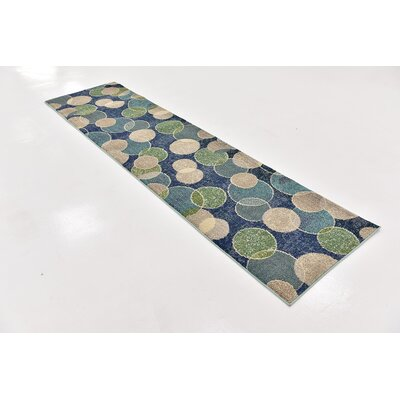 Chenango Navy Blue Area Rug Rug Size: Runner 27 x 10