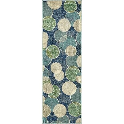 Chenango Navy Blue Area Rug Rug Size: Runner 2 2 x 6 7