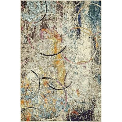 Chenango Beige/Yellow Area Rug Rug Size: Rectangle 4 x 6