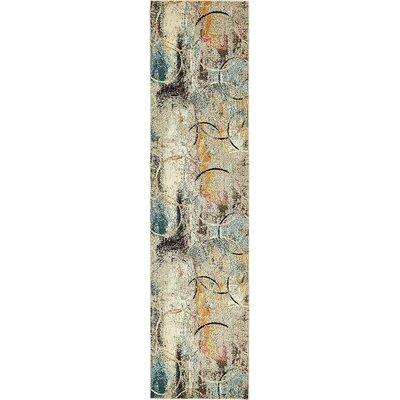 Chenango Beige/Yellow Area Rug Rug Size: Runner 27 x 10
