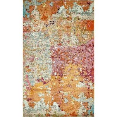 Chenango Orange/Pink Area Rug Rug Size: 10 6 x 16 5