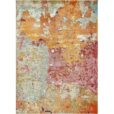 Chenango Orange/Pink Area Rug Rug Size: 9 x 12
