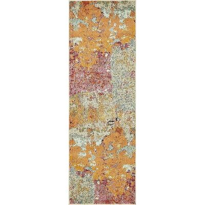 Vigna Orange/Pink Area Rug Rug Size: Runner 2 2 x 6 7