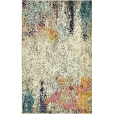 Chenango Beige Area Rug Rug Size: Rectangle 5 x 8