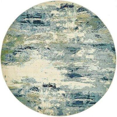Chenango Light Blue Area Rug Rug Size: Round 8
