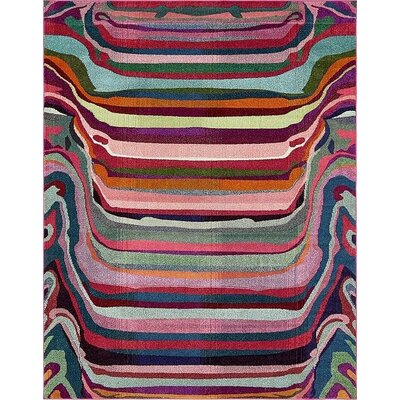 Vigna Purple/Pink Area Rug Rug Size: 8 x 10