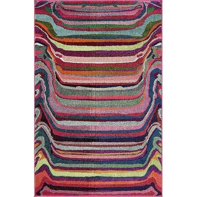 Vigna Purple/Pink Area Rug Rug Size: 4 x 6