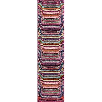 Vigna Purple/Pink Area Rug Rug Size: Runner 2 7 x 10