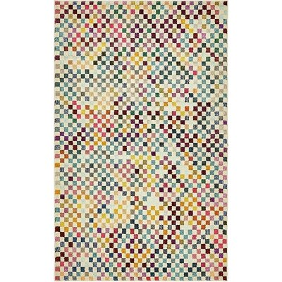 Vigna Purple/Green Area Rug Rug Size: 5 x 8