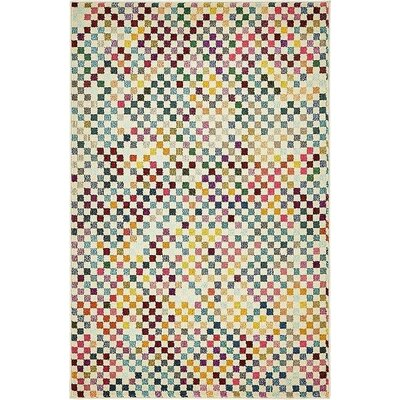 Chenango Purple/Green Area Rug Rug Size: 4 x 6