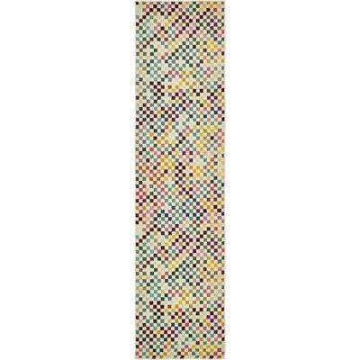 Vigna Purple/Green Area Rug Rug Size: Runner 2 7 x 10