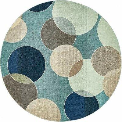 Vigna Blue Area Rug Rug Size: Round 8'