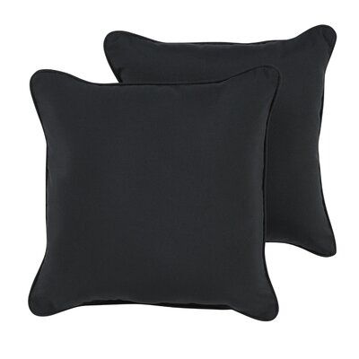 Hinkson Indoor/Outdoor Sunbrella Throw Pillow Size: 18 H x 18 W x 6 D