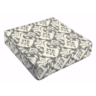 Peabody Ikat Outdoor Dining Chair Cushion Fabric: Gray