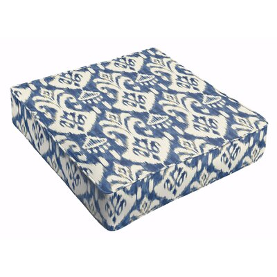 Peabody Ikat Outdoor Dining Chair Cushion Fabric: Indigo
