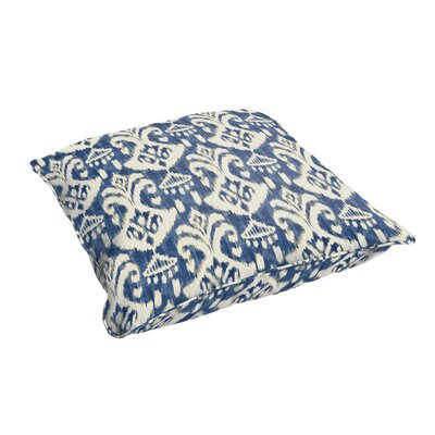 Pederson Indigo Indoor/Outdoor Piped Floor Pillow