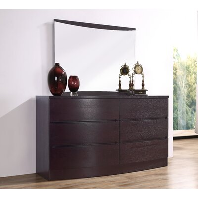 Carrabelle 6 Drawer Dresser Finish: Espresso