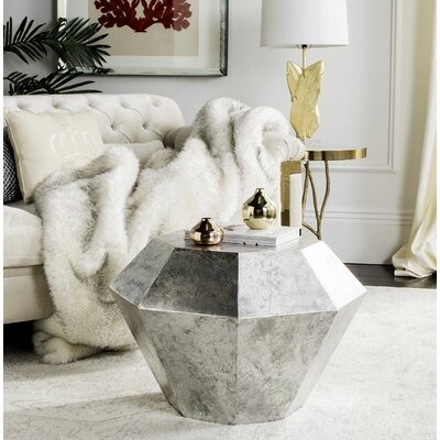 Giselle End Table Color: Antique Silver