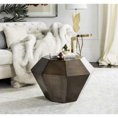 Giselle End Table Color: Antique Copper