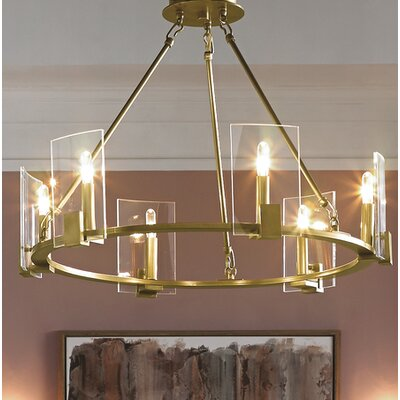 Ahlers 6-Light Candle-Style Chandelier Finish: Natural Brass