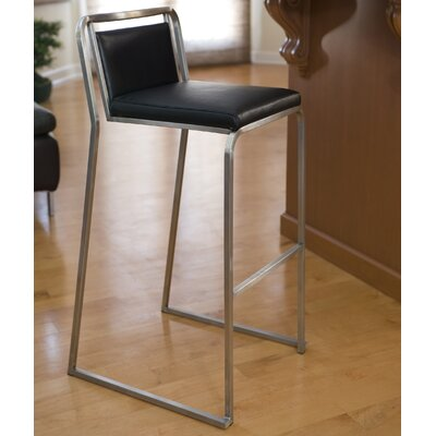 Loftis 29.5 Bar Stool Upholstery: Black